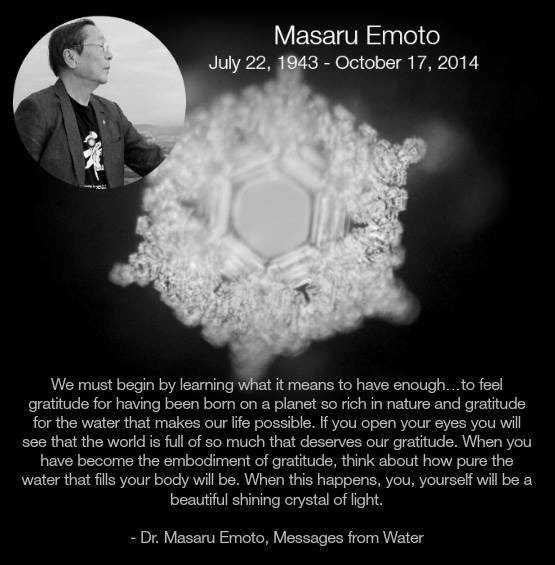 RIP Masaru Emoto
